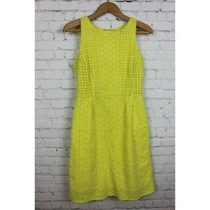 Old Navy Size 2 Yellow Dress Eyelet Knee Length